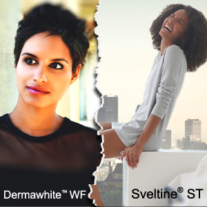DERMAWHITE™ WF e SVELTINE® ST: 2 principi attivi funzionali per illuminare il viso e rimodellare il corpo.